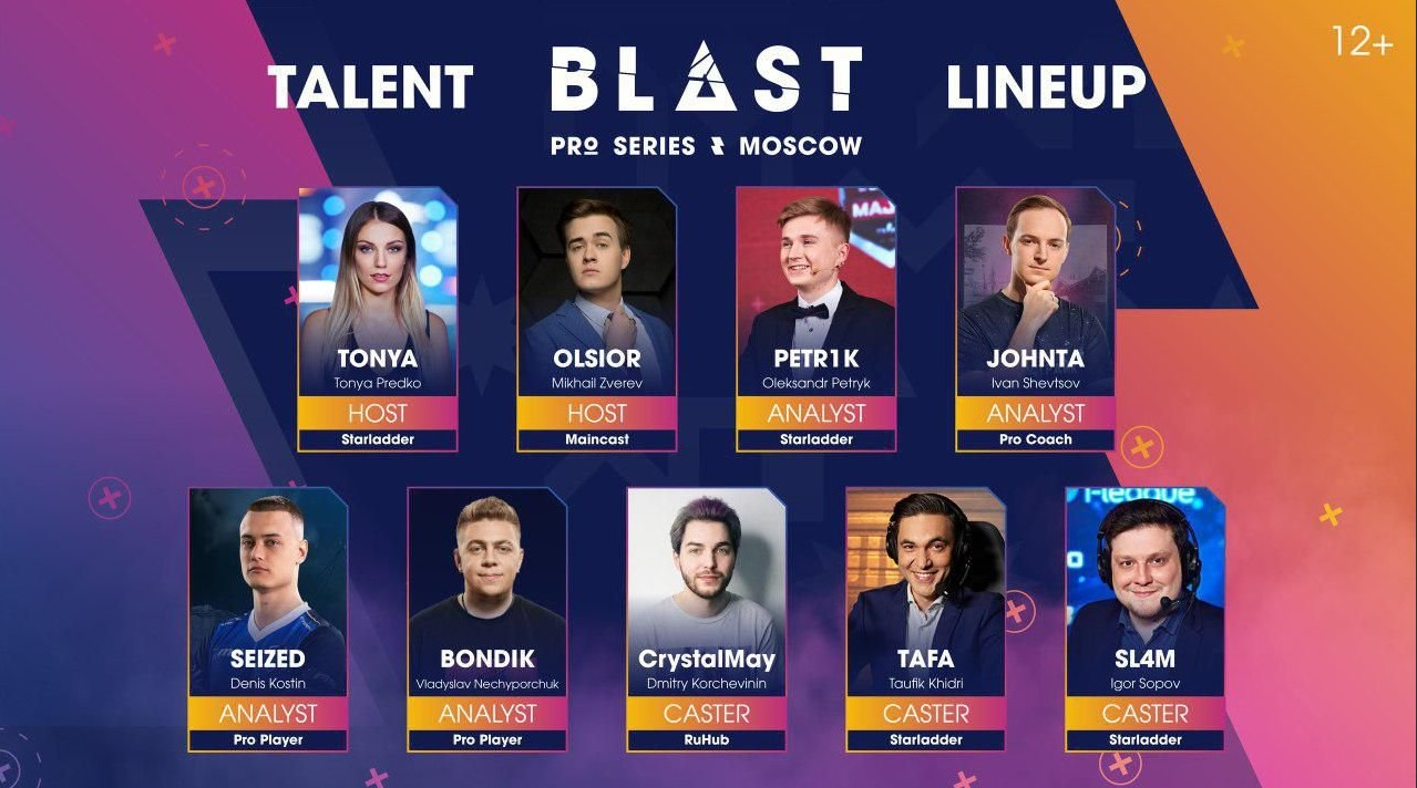 LineUp casters BPS Moscow 2019