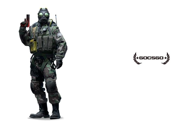 Офицер отряда Б полный рост